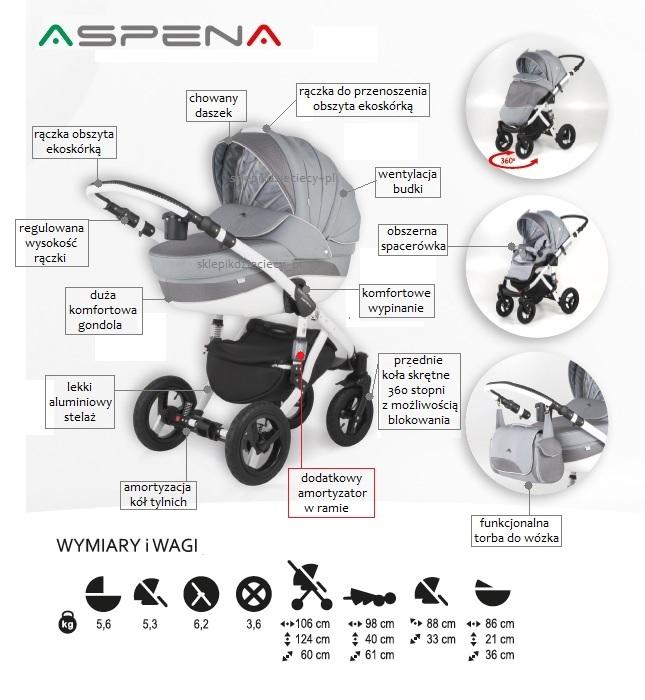 wózek adamex aspena - wymiary